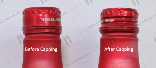 Roll-on Pilfer Proof Caps on aluminum bottle