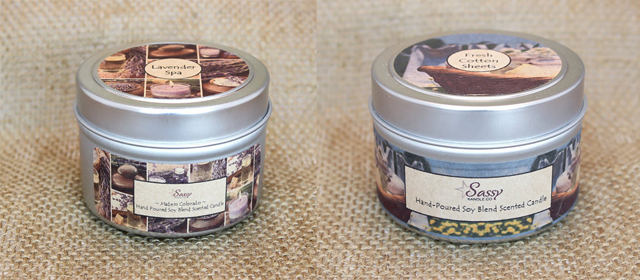 Aluminum Canister For Hand-poured Soy Blend Scented Candle