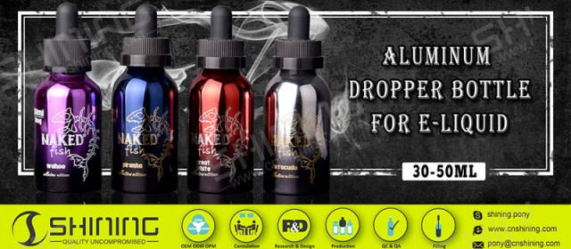 Aluminum dropper bottle for E-liquid & E-juice