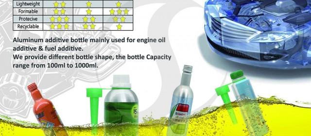 Aluminum bottle for fuel additive