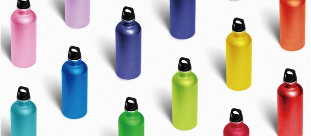 Best aluminum sport bottles in shining aluminum packaging
