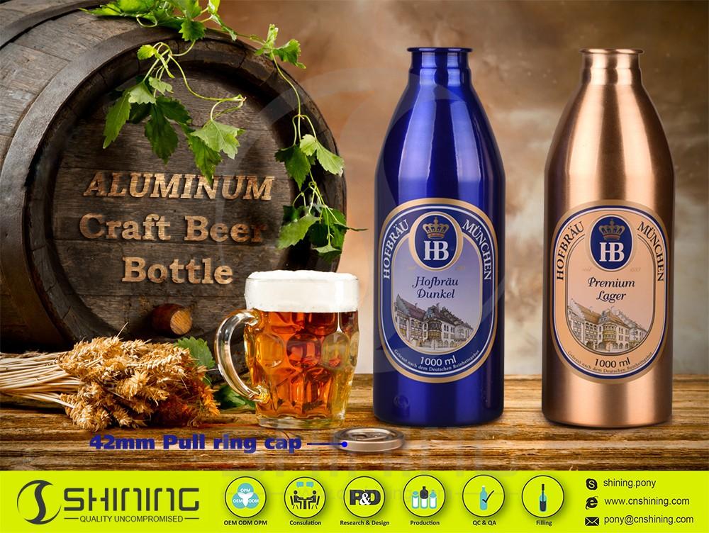 1000ml aluminum beer bottles