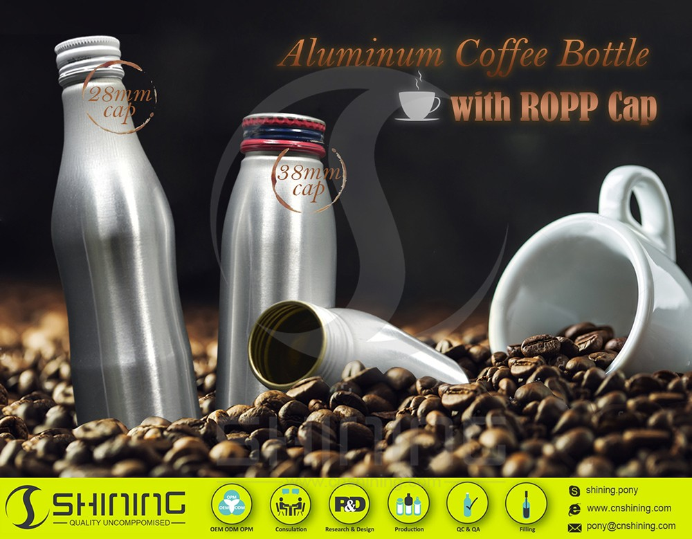 Aluminum coffee bottle