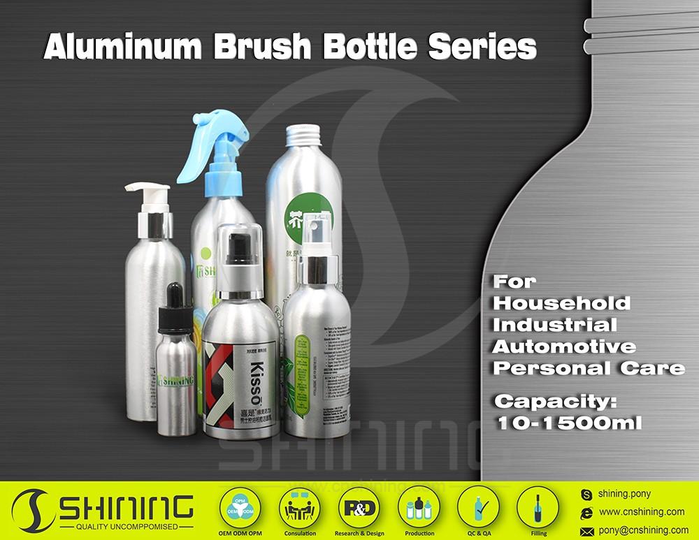 household aluminum bottles