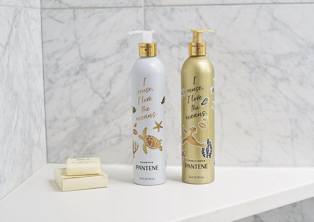 aluminum shampoo bottles