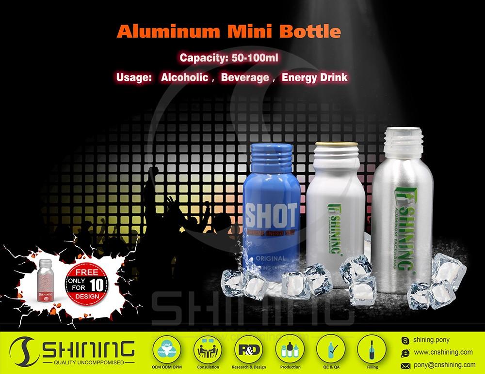 aluminum mini bottle