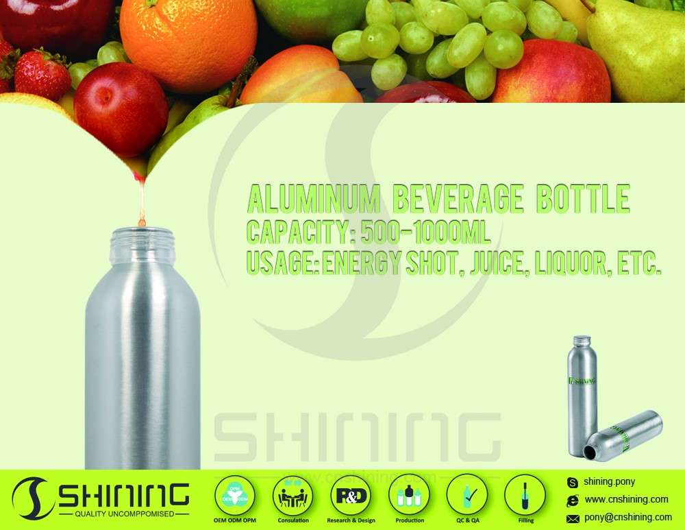 aluminum energy bottle